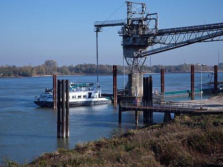 Transport, Ship, Loading, Rhine, Shipping, Water