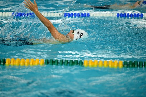 Sva, Swim, On The Back, In The Pool, A Wave Of The Hand