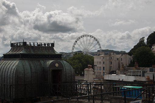 England, Ferris Wheel, Architecture, Historic Center
