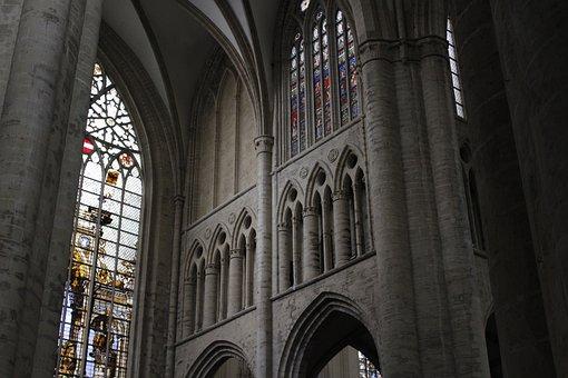 Church, Brussels, Religious, Saint, Religion, Belgium