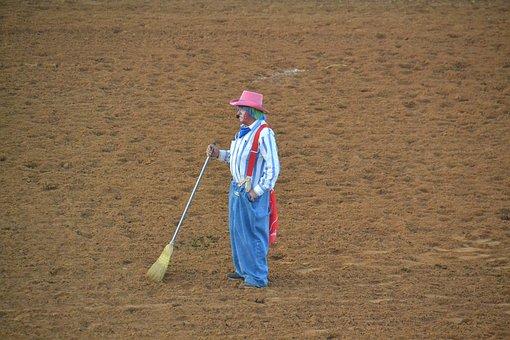 Rodeo, Clown, Cowboy, Texas, Western
