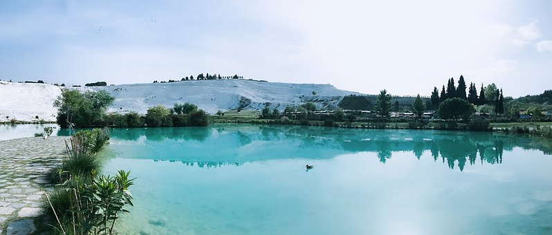 Early In The Morning, Pamukkale At The Foot Of