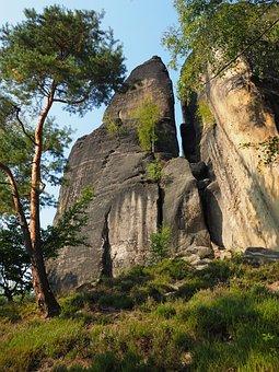 Rock, Elbe Sandstone, Hike, Sandstone Rocks, Landscape