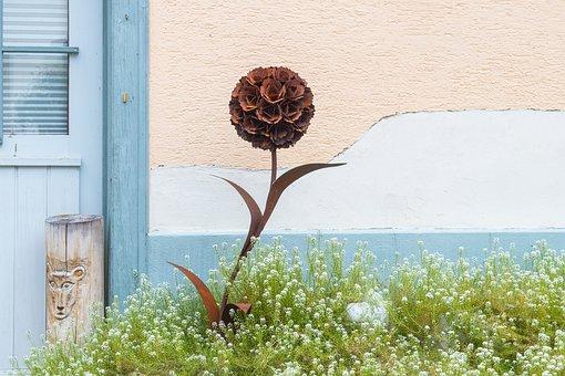 Flower, Metal Flower, Decoration, Gartendeko