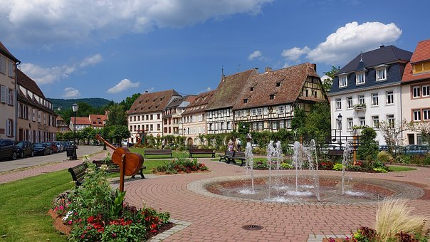 Wissembourg, France, Vineyards, Half-timbered Houses