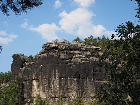 Rock, Domriff, Dompfeiler, Elbe Sandstone, Hike