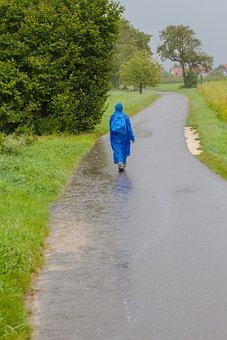 Hiking, Hike, Rain Hike, Rain, Wanderer, Away