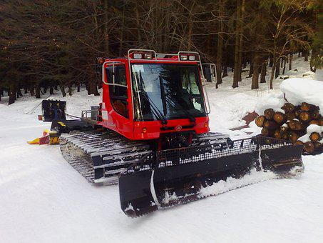 Winter, Groomer, Machine, Snowy, Snow, Vehicle