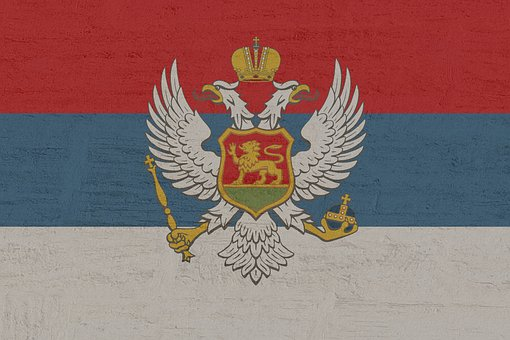Montenegro, Flag, Adriatic Coast, South East Europe