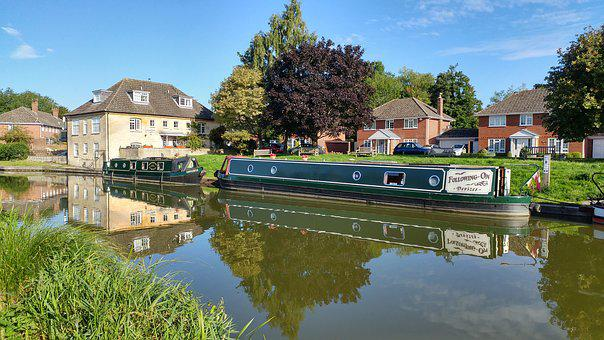 Canal, Waterway, Barge, Narrowboat, British, Britain