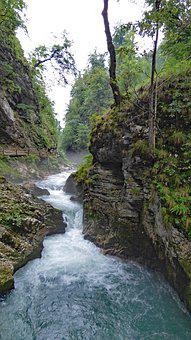 Vintgar, Gorge, Bled, Slovenia, Radovna, River, Triglav