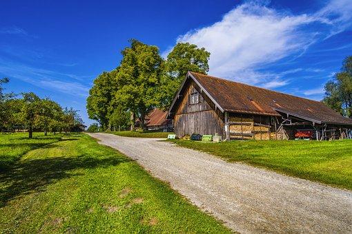 Farm, Scenic, Bavaria, Landscape, Nature, Meadow