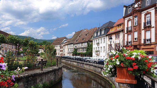 Wissembourg, Vineyards, France, Channel
