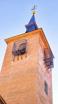 Tower, Bell Tower, Church, Brick, Ancient, Madrid