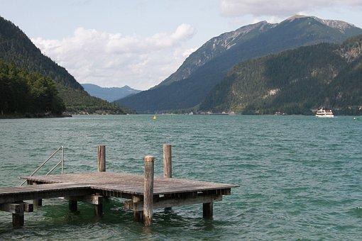 Lake, Achensee, Alpine, Austria, Nature, Swim, Water
