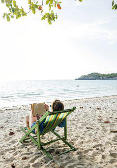 Beach, Book, Calm, Casual, Chill, Destination