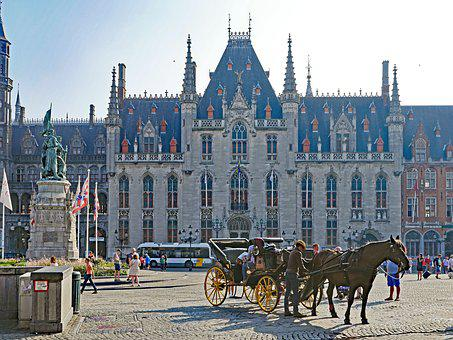 Bruges, Large Market, Centrum, Stadtmitte