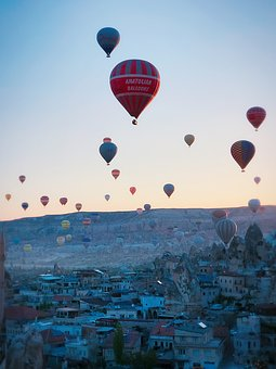 Early In The Morning, Cappadocia, Hot Air Balloon