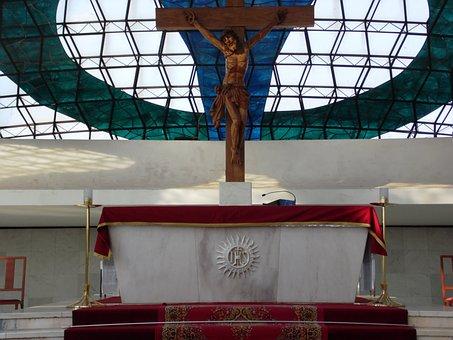 Altar, Catholic Church, Cruz