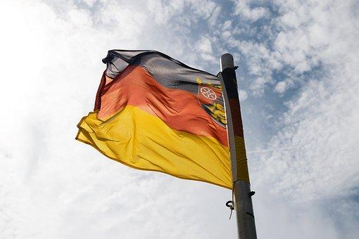 Flag, Germany, Sky, Europe, Summer, Travel, Deutschland