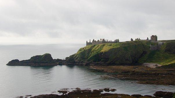Dunnottar, Castle, Scotland, Landscape, Stonehaven
