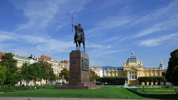 Zagreb, Croatia, King Tomislav, Statue, Art, Museum