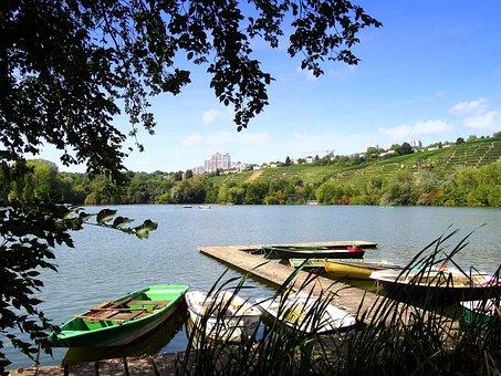 Max-eyth-lake, Stuttgart, Lake, Boats