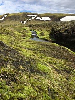 Iceland, Water, Snow, Nature, Grass, Landscape, Glacier