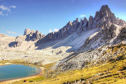 Paternkofel, Dolomites, Alm, Nature, Rubble Field, Lake