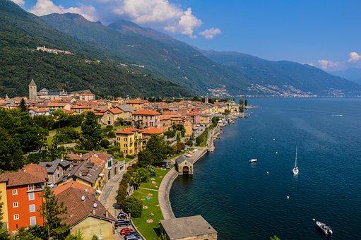 Lago Maggiore, Lake, Italy, Landscape, Panorama