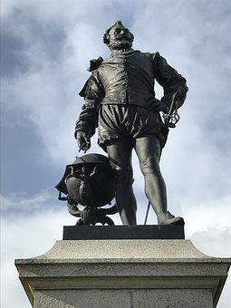Plymouth, Statue, England, Francis-drake, Plymouth-hoe