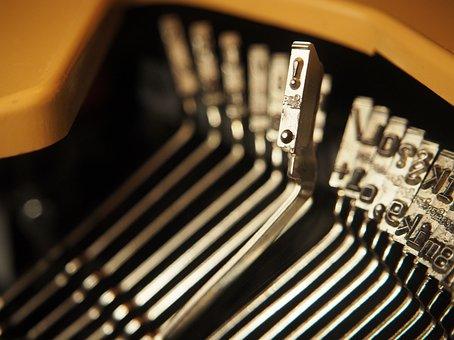 Typewriter, Letters, Call Sign, Retro, Old Typewriter