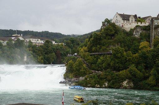 Rhine Falls, Switzerland, Schaffhausen, Waterfall