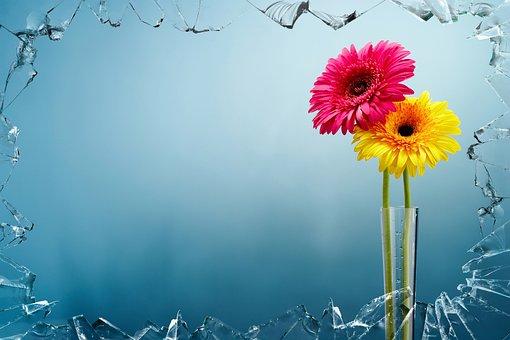 Artwork, Colorful, Art, Flowers, Vase, Arrangement