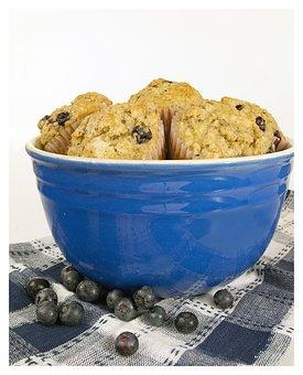 Blueberry, Muffins, Bowl, Breakfast, Berry, Sweet, Blue