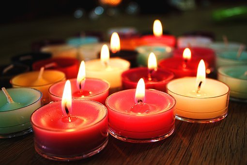 Candles, Flame, Colorful, Christmas, Fire, Light, Color