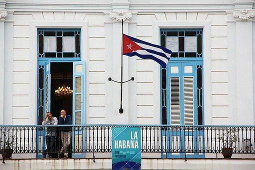 Cuba, Flag, Facade, Doors, Window, Caribbean, Cuban