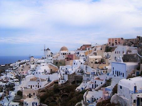 Greece, City, Island, Greek Island, Cyclades, White