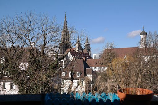 Ulm, Ulm Cathedral, City View, Steeple, Sky, Roofs