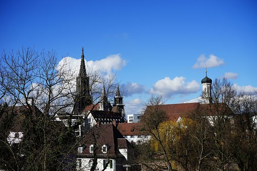 Ulm, Ulm Cathedral, City View, Steeple, Sky, Roofs