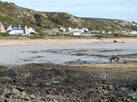 Coast, Beacon, Atlantic, Jersey, Channel Islands, Rock