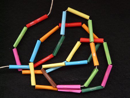 Paper, Chain, Roll, Loose, Colorful, Color