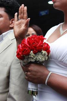 If, Wedding, Hands, Raised, Commitment, Married, Roses