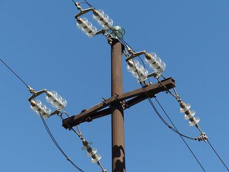 Insulators, Overhead Line, Electricity Pylon, Strommast