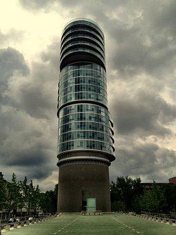 Exzenterhaus, Skyscraper, Architecture, Towers, Sky
