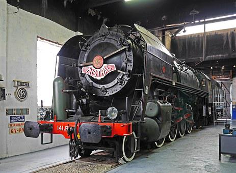 Steam Locomotive, Museum, Sncf, French State Railway