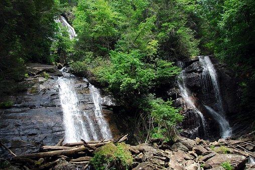Waterfall, Anna Ruby Falls, Helen, Georgia, Nature