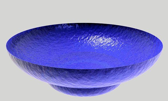 Dish, Bowl, Glass, Colorful, Blue
