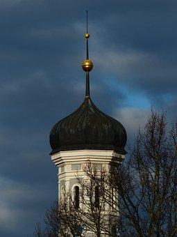 Steeple, Ulm, Holy Trinity Church, Spire, Onion Dome