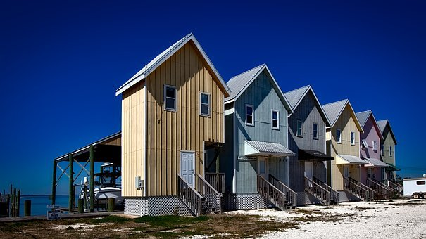 Dauphin Island, Alabama, Fishing Houses, Homes, Cottage